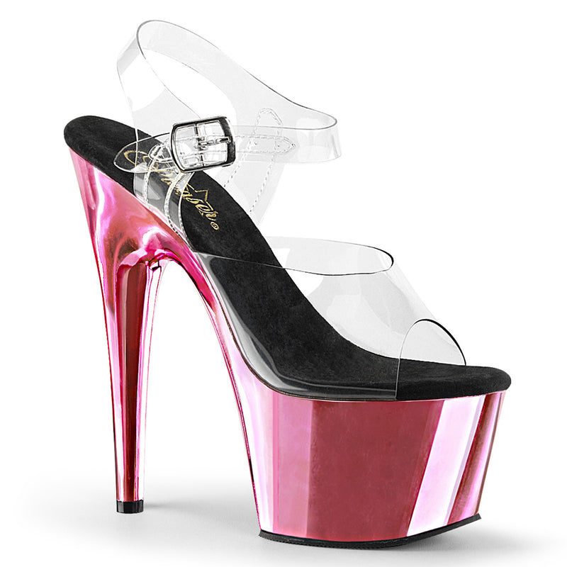 Adore 708 Baby Pink Chrome Platforms