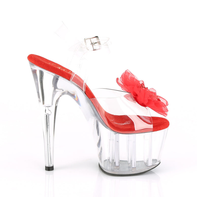 Adore 708BFL Clear & Red Flower Platforms