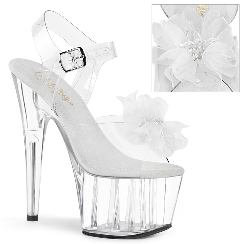 Adore 708BFL Clear & White Flower Platforms