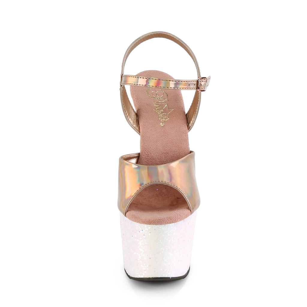 Adore 709HGG Rose Gold Holographic Glitter Platforms