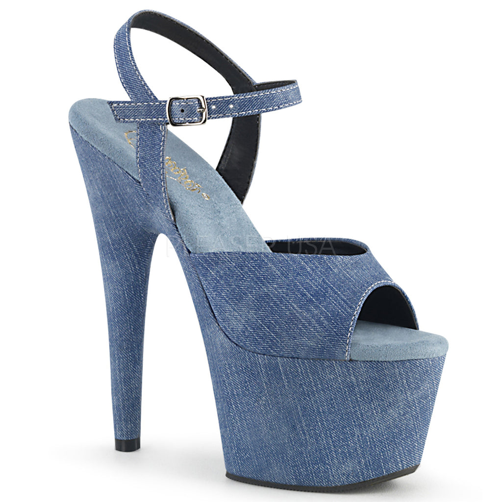 Adore 709WR Blue Denim Platforms