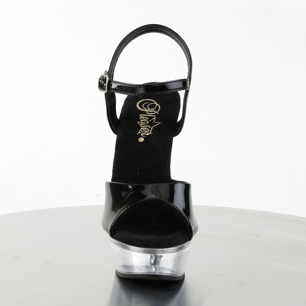 Allure 609 Black Patent and Clear Heels