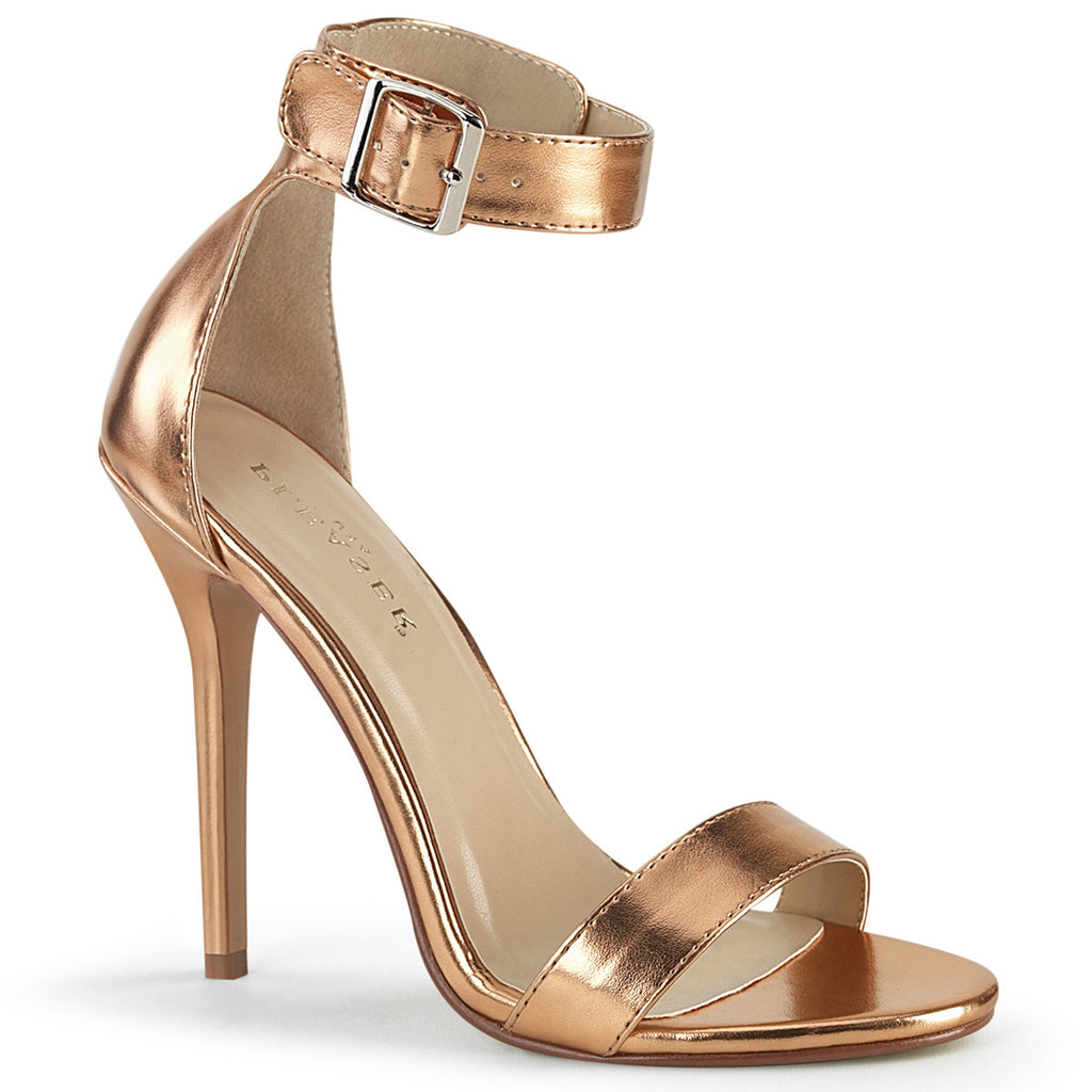 Amuse 10 Rose Gold Matte Ankle Strap Sandals