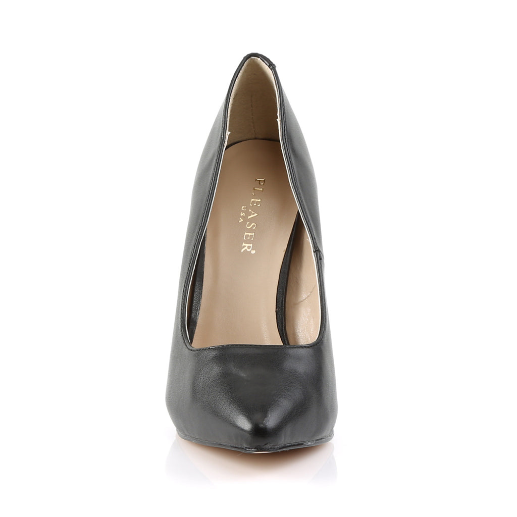 Amuse 20 Black Faux Leather Court Shoes