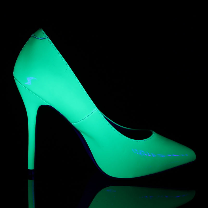 Amuse 20 Neon Green Patent Court Shoes