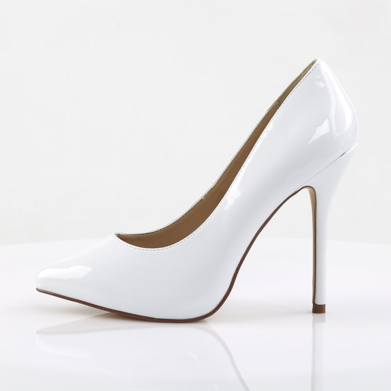 Amuse 20 White Patent Court Shoes