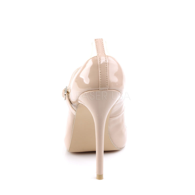Amuse 21 Nude and Clear Stilettos
