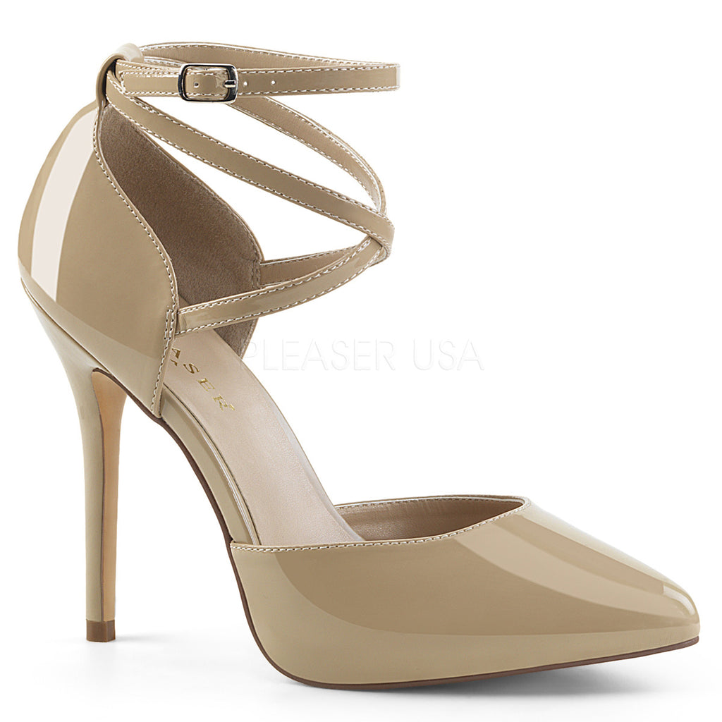 Amuse 25 Nude Patent High Heels