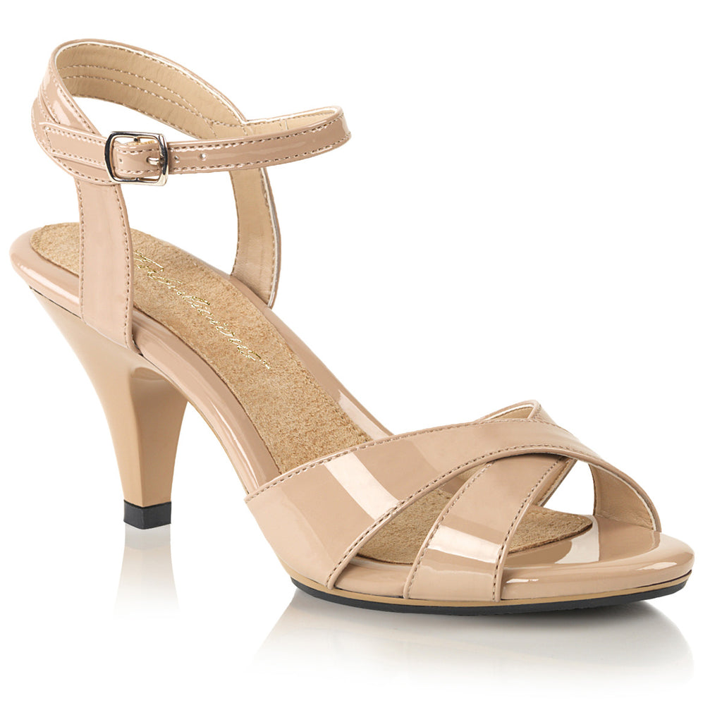 Belle 315 Nude Patent Peep Toe Sandals