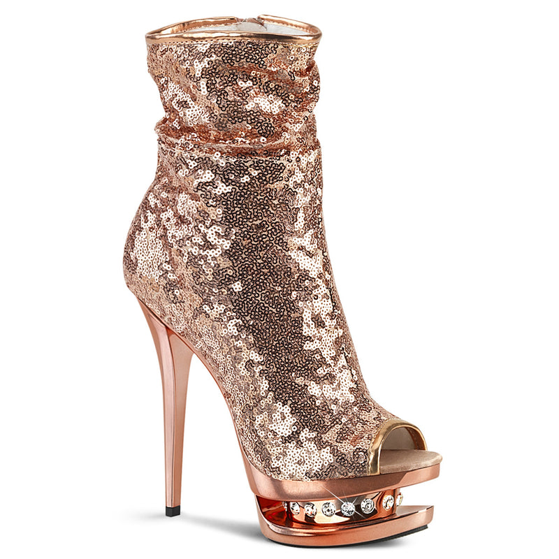 Blondie R-1008 Rose Gold Sequin Ankle