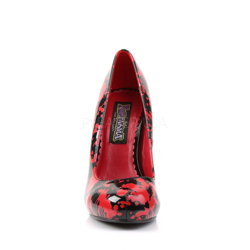 Bloody 12 Black & Blood Spattered Zombie Pumps