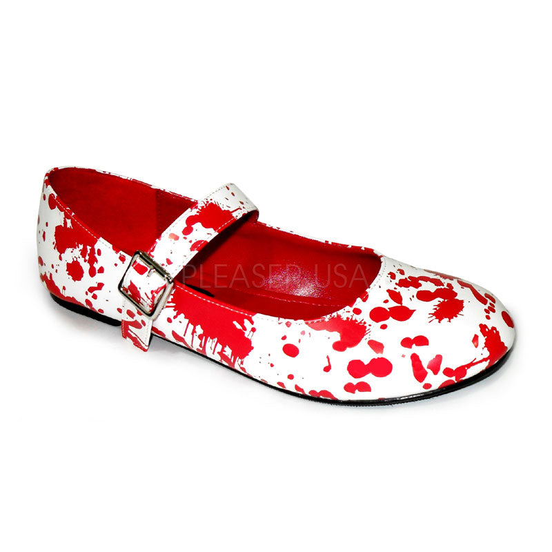 Bloody 16 Blood Spattered Zombie Flat Pumps