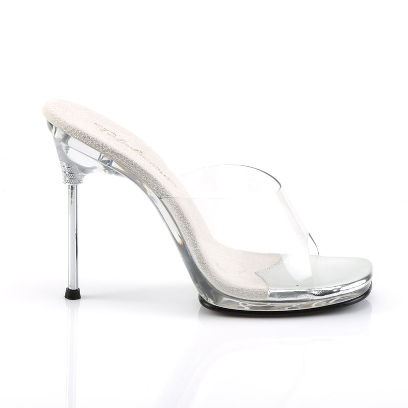 Chic 01 Clear Slip On Sandals