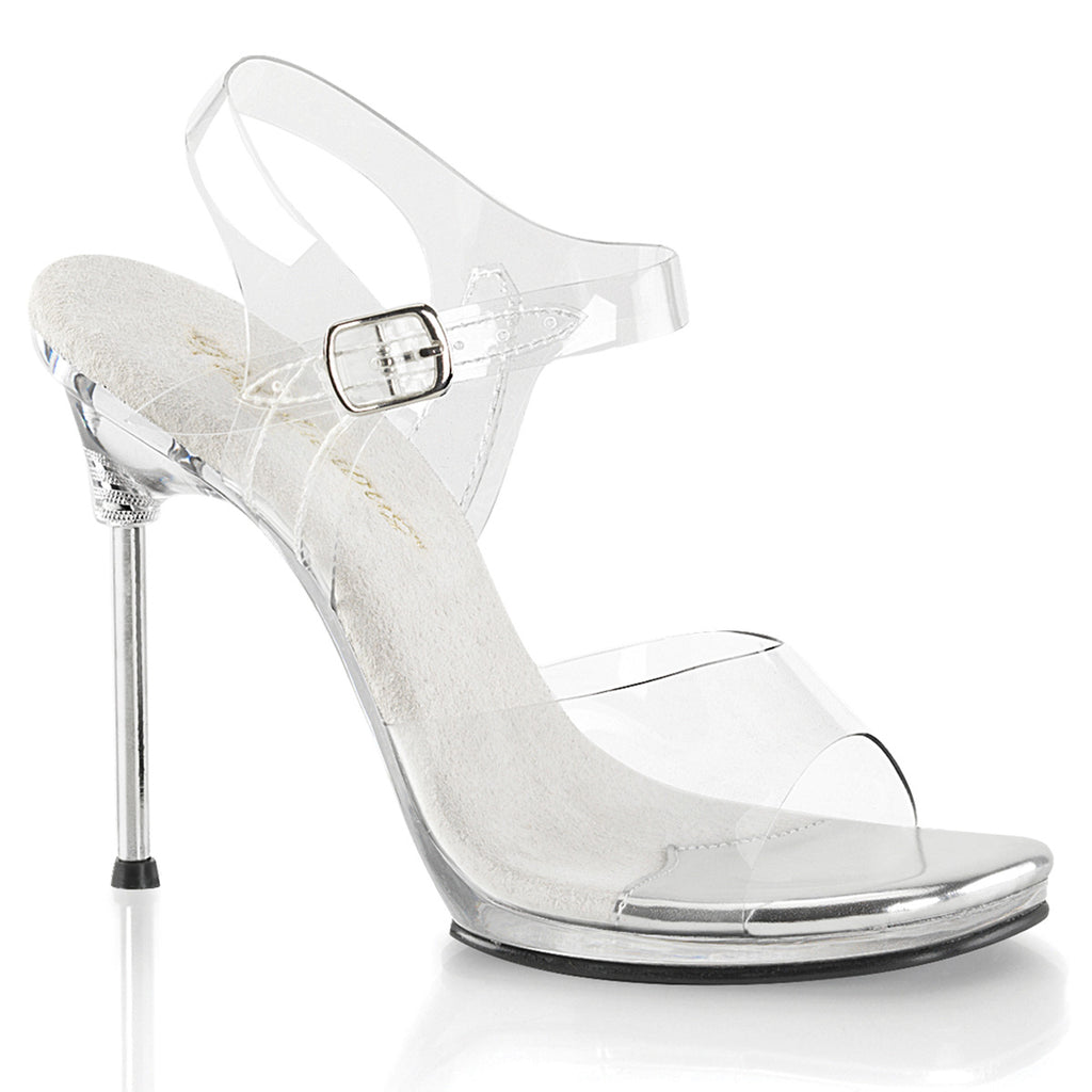 Chic 08 Clear Sandals with Ankle Strap