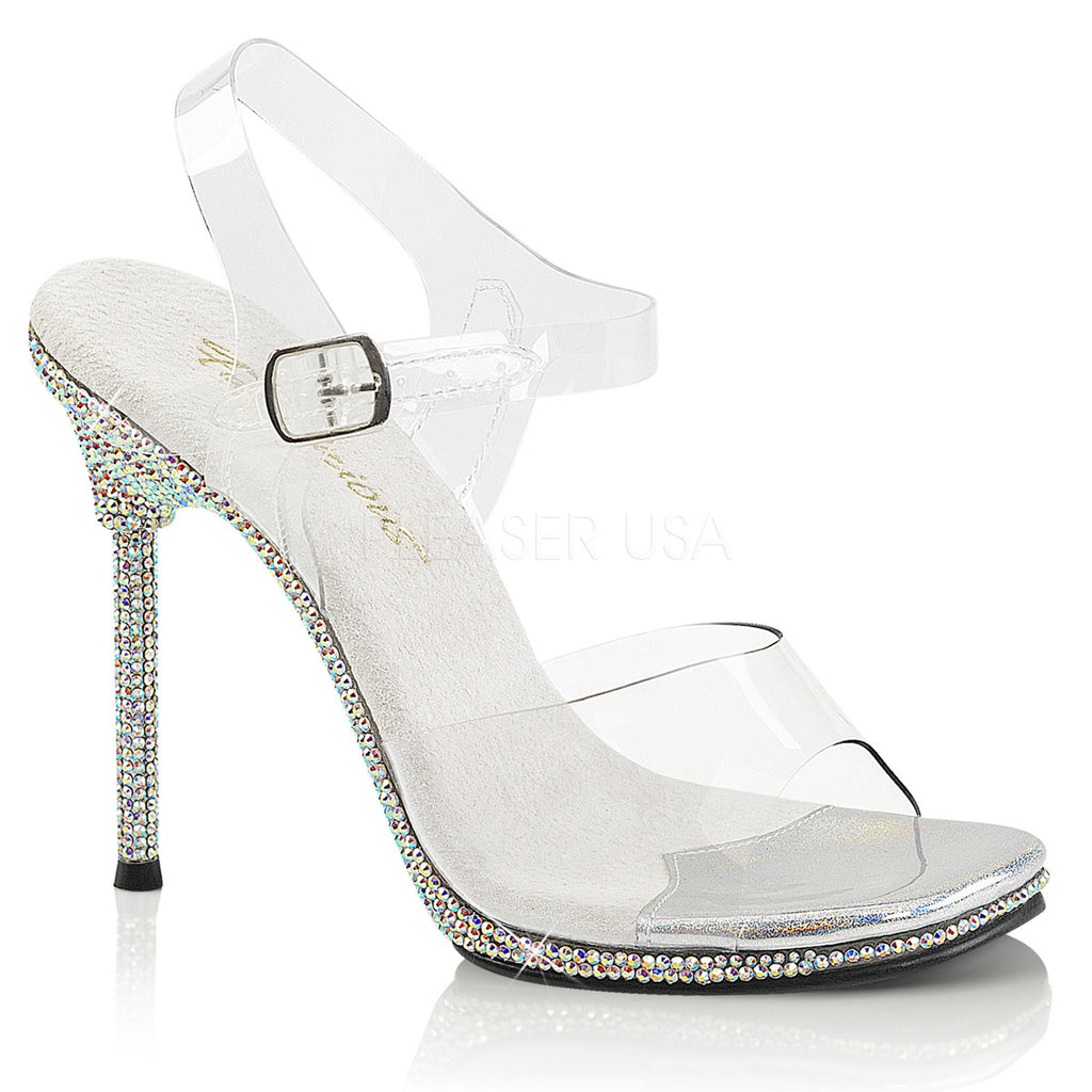 Chic 08DM Clear Sandals with Rhinestones