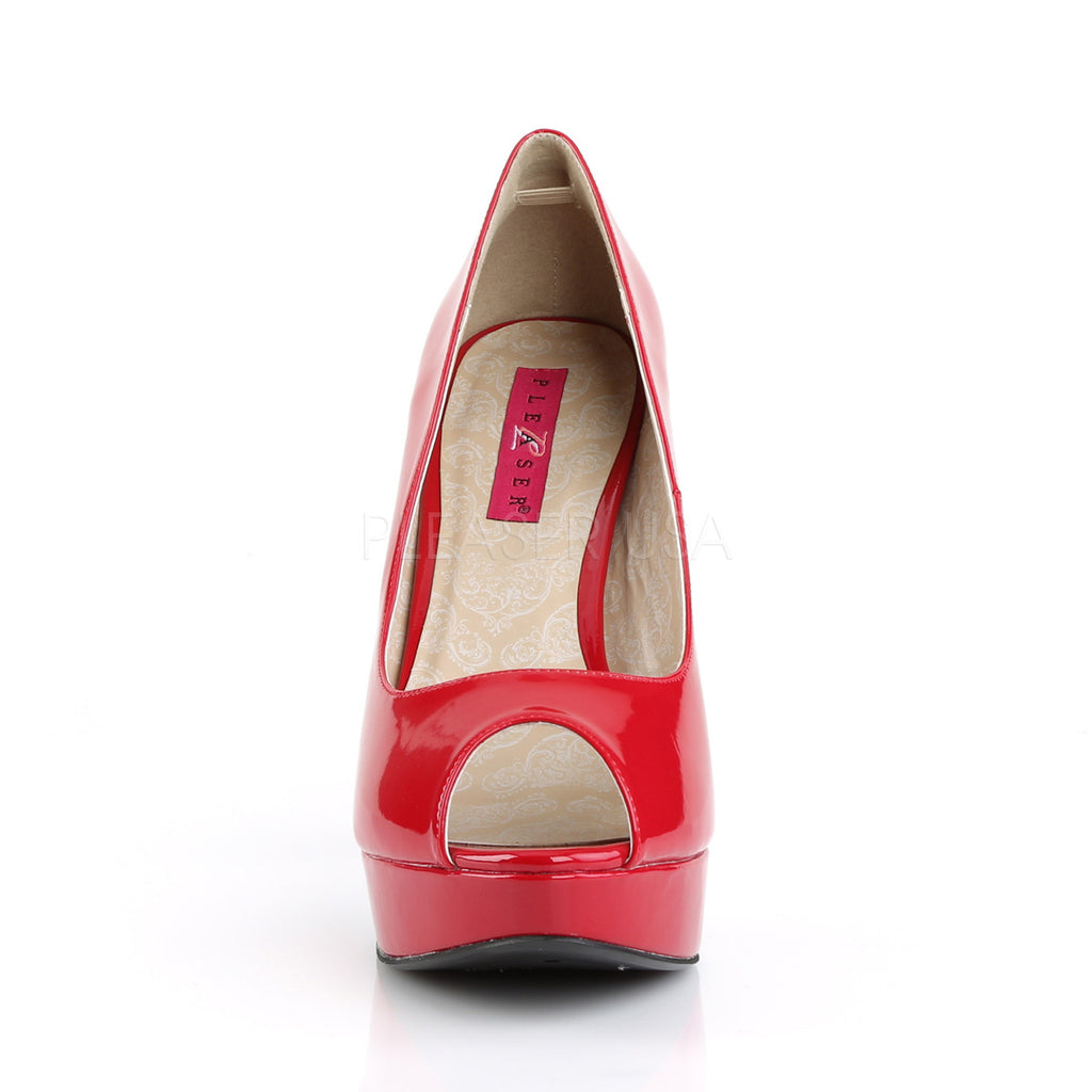 Chloe 01 Red Patent Peep Toe Platforms