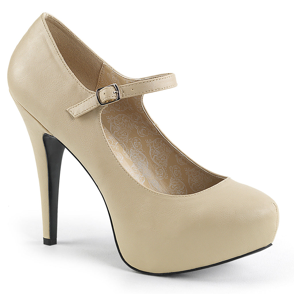 Chloe 02 Nude Matte Mary Jane Platforms