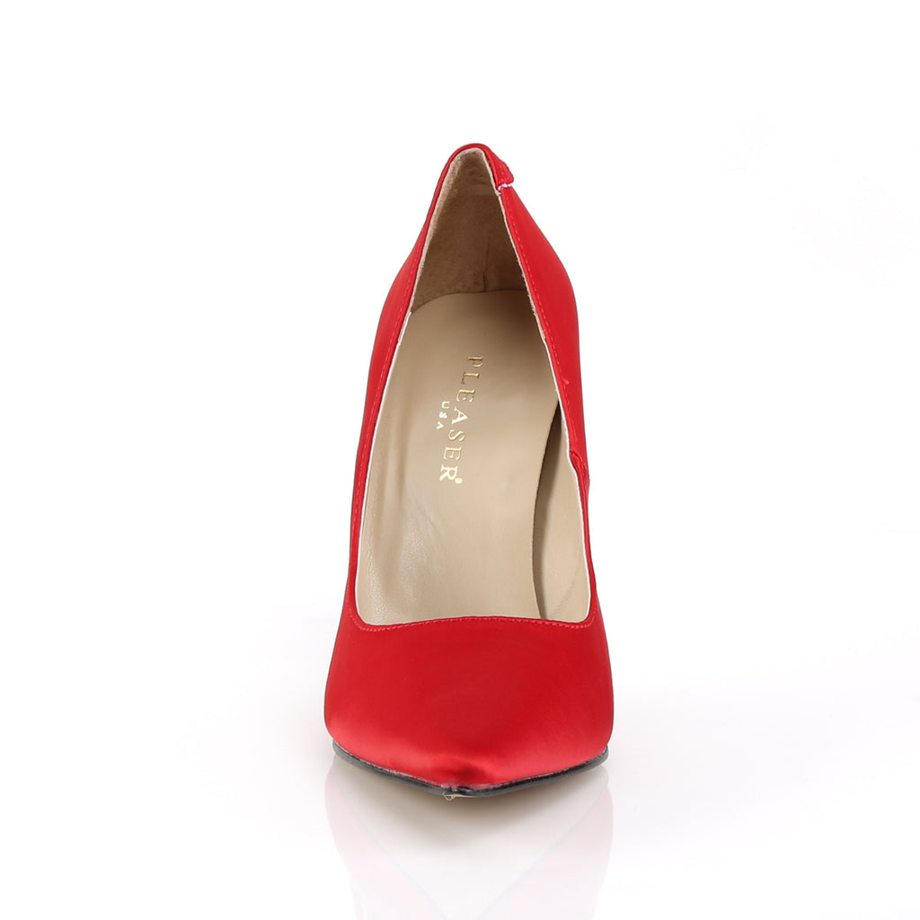 Classique 20 Red Satin Pointed Stilettos