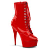Delight 1020 Red Patent Ankle Boots