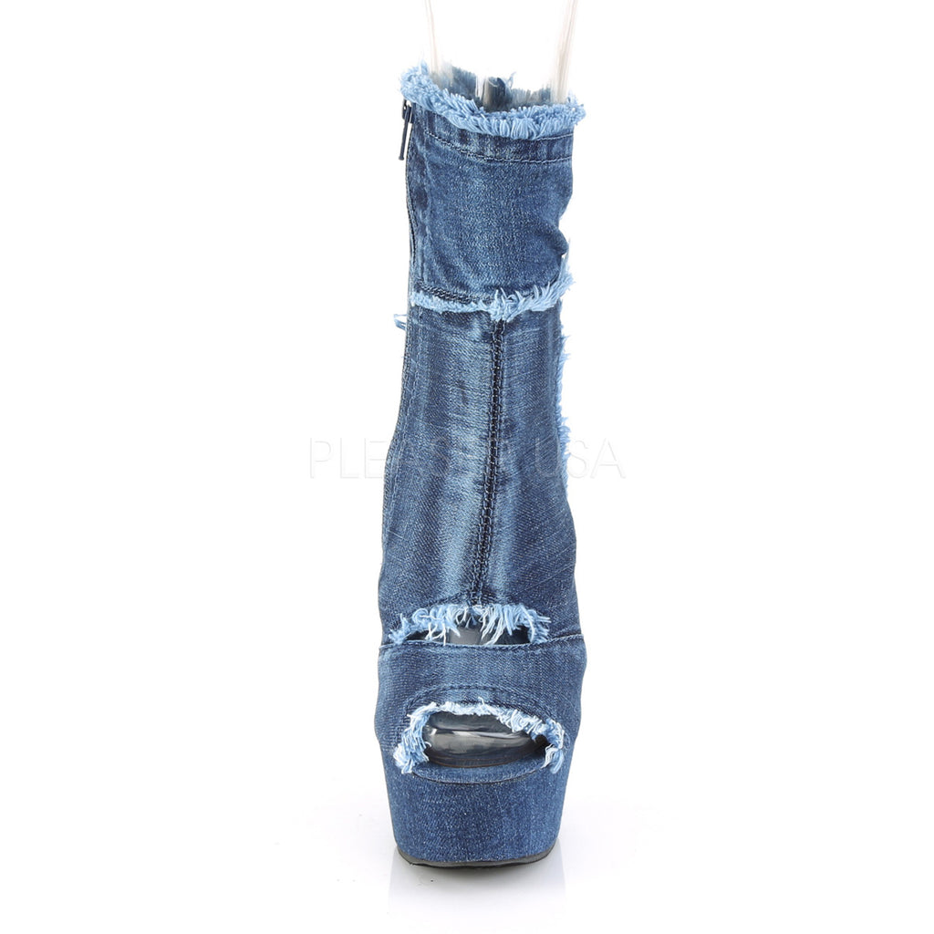 Delight 1030 Blue Denim Ankle Boots