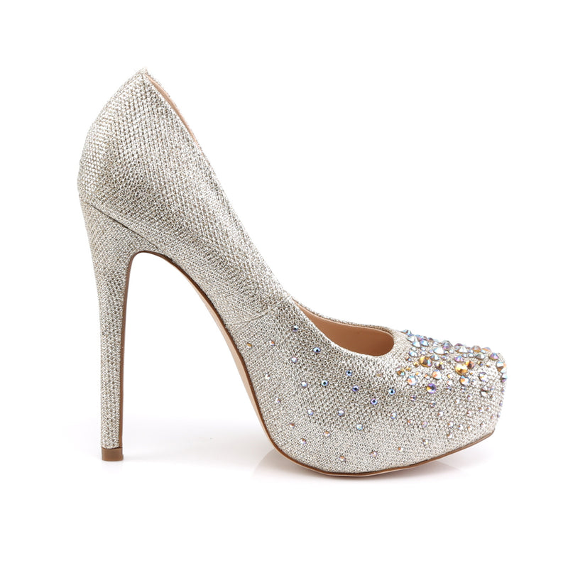 Destiny 06R Gold Rhinestone Court Shoes