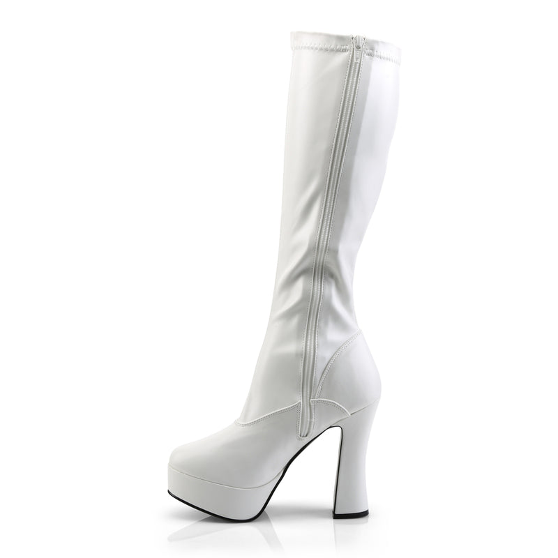 Electra 2000Z White Faux Leather Knee High Boots