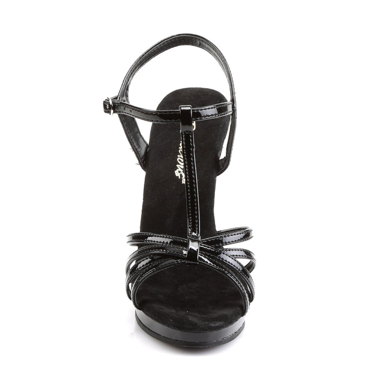 Flair 420 Black Patent Strappy Sandals