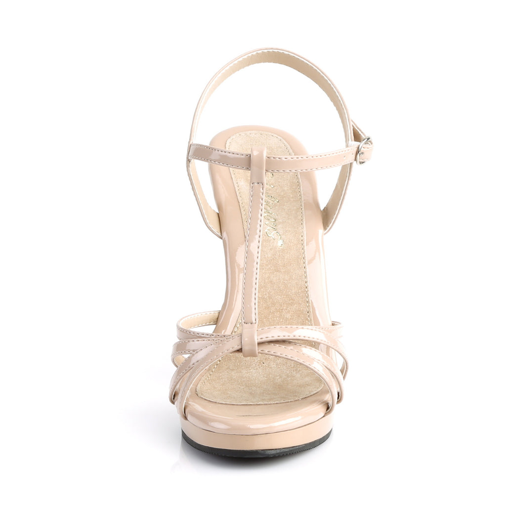 Flair 420 Nude Patent Strappy Sandals