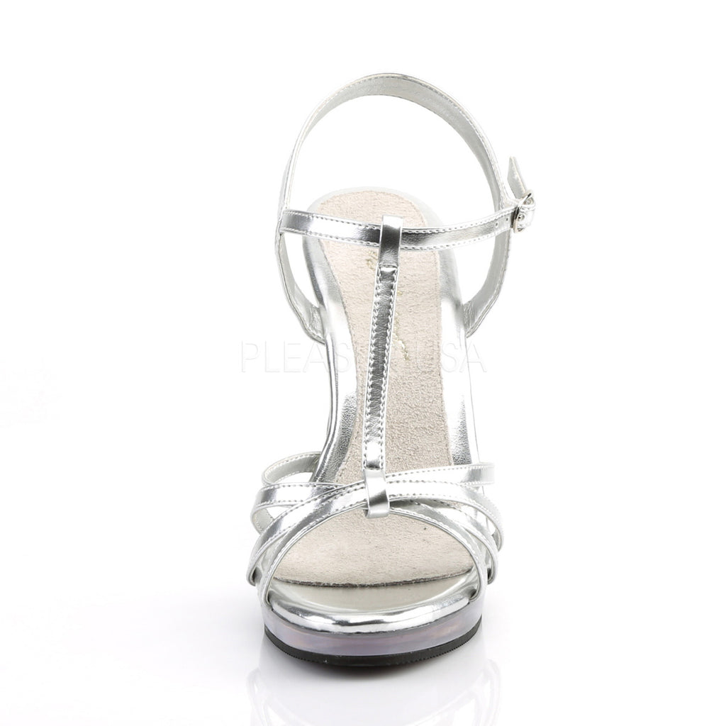 Flair 420 Silver Patent Strappy Sandals