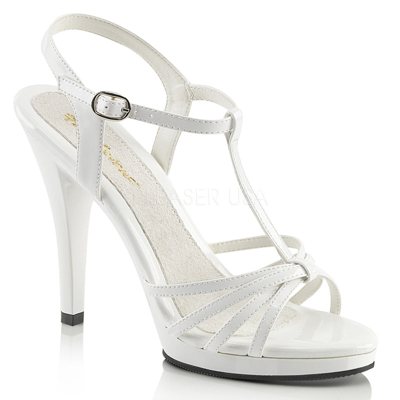 Flair 420 White Patent Strappy Sandals