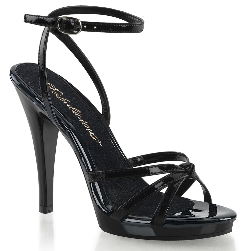 Flair 436 Black Patent Strappy Sandals
