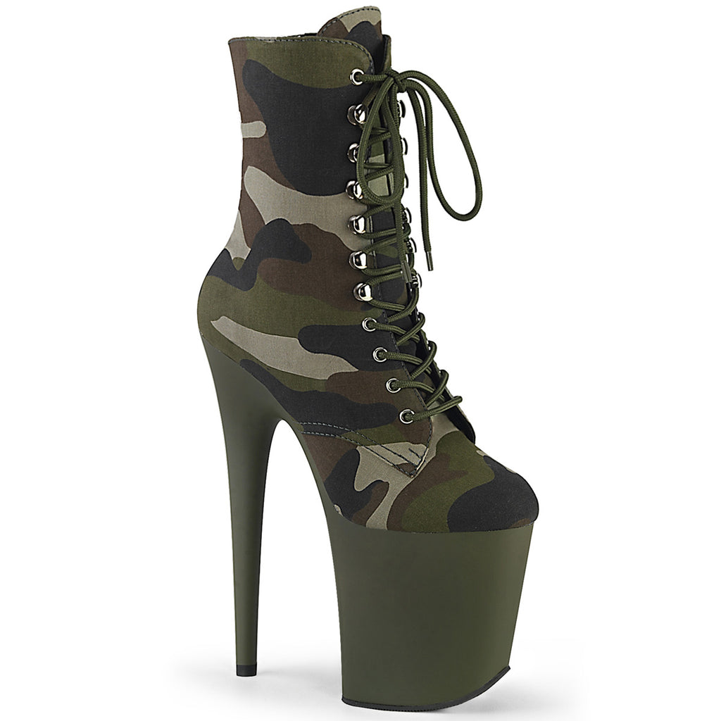 Flamingo 1020 Camo Ankle Boots