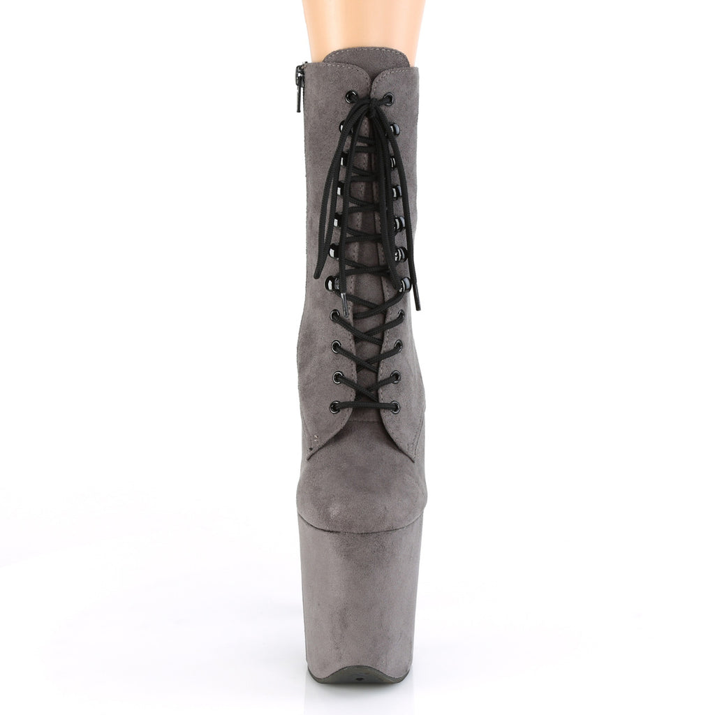 Flamingo 1020FS Grey Faux Suede Ankle Boots