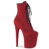 Flamingo 1020FS Red Faux Suede Vegan Boots