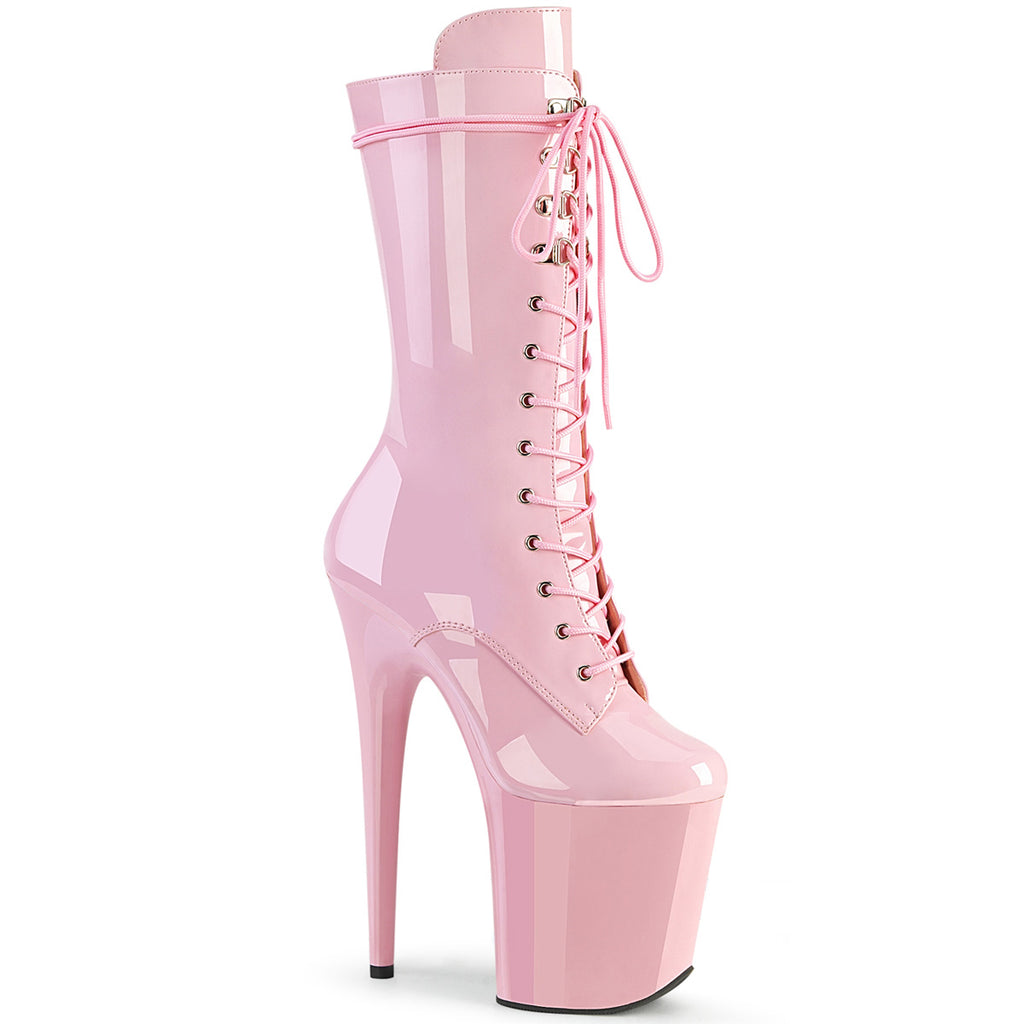 Flamingo 1050 Pink Patent Leather Mid-Calf Boots