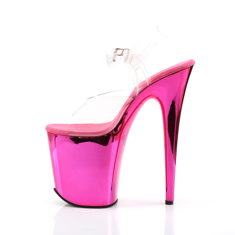 Flamingo 808 Hot Pink Chrome Platforms