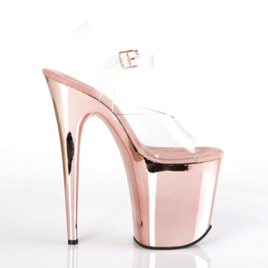Flamingo 808 Rose Gold Chrome Vegan Platforms