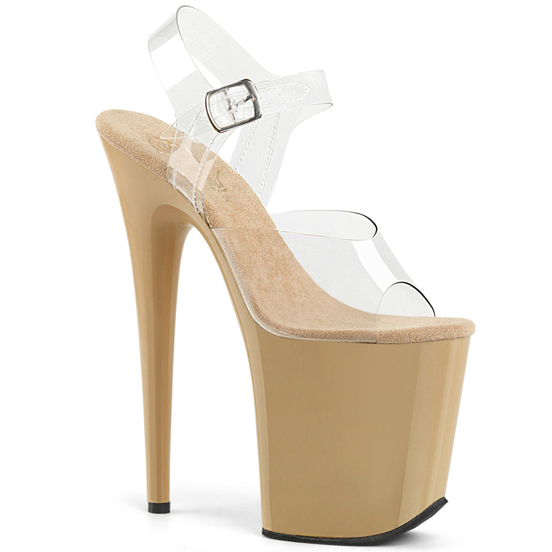 Flamingo 808 Cream and Clear Platforms