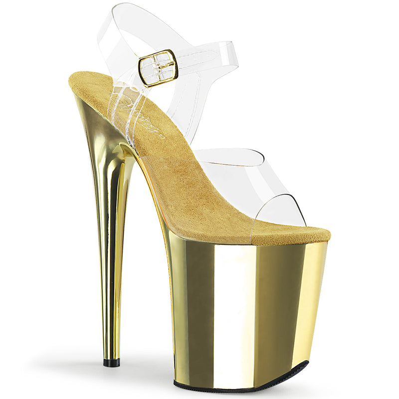 Flamingo 808 Gold Chrome Vegan Platforms