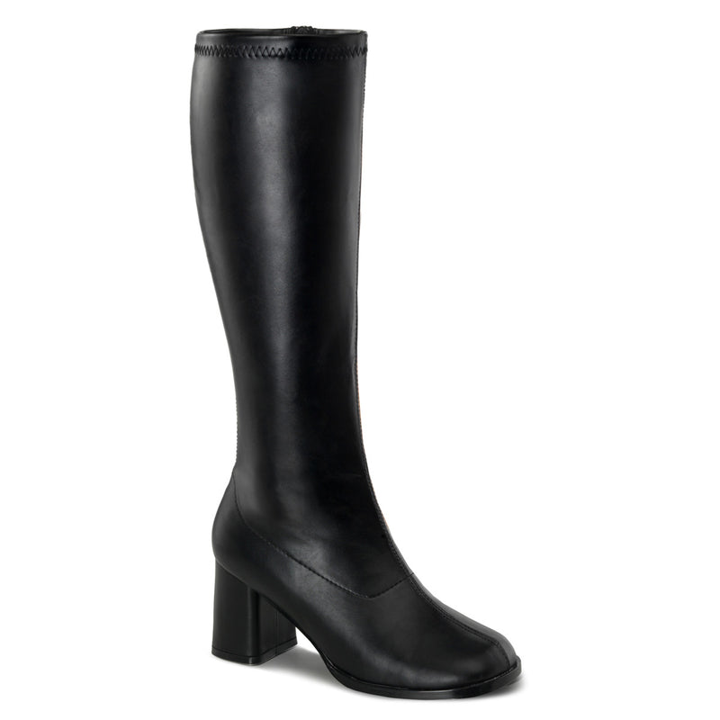 Gogo 300WC Wide Fit Black Matte Boots