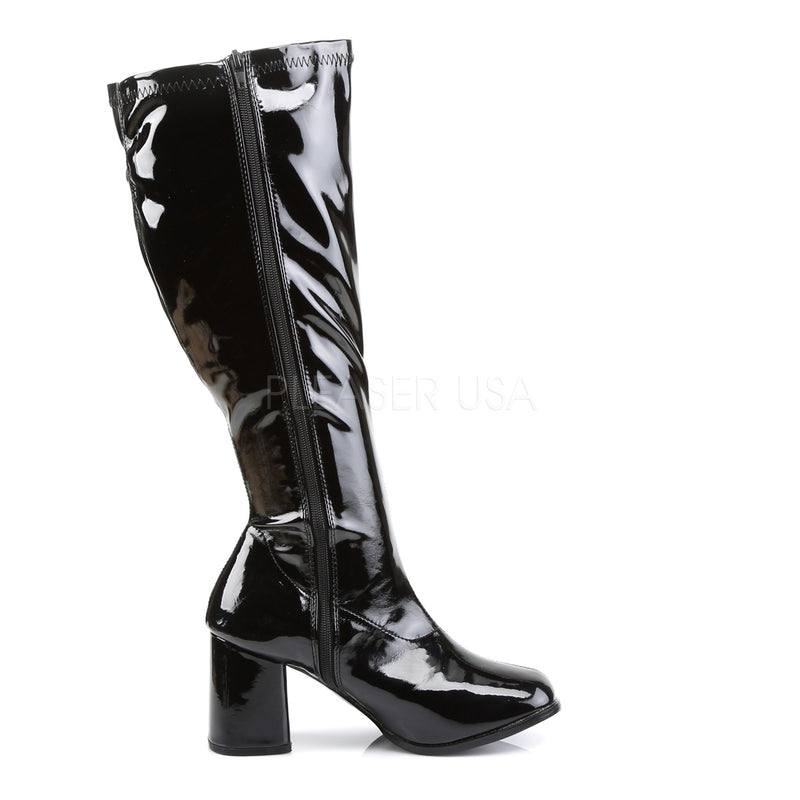 Gogo 300X Wide Calf Fit Black Patent Boots