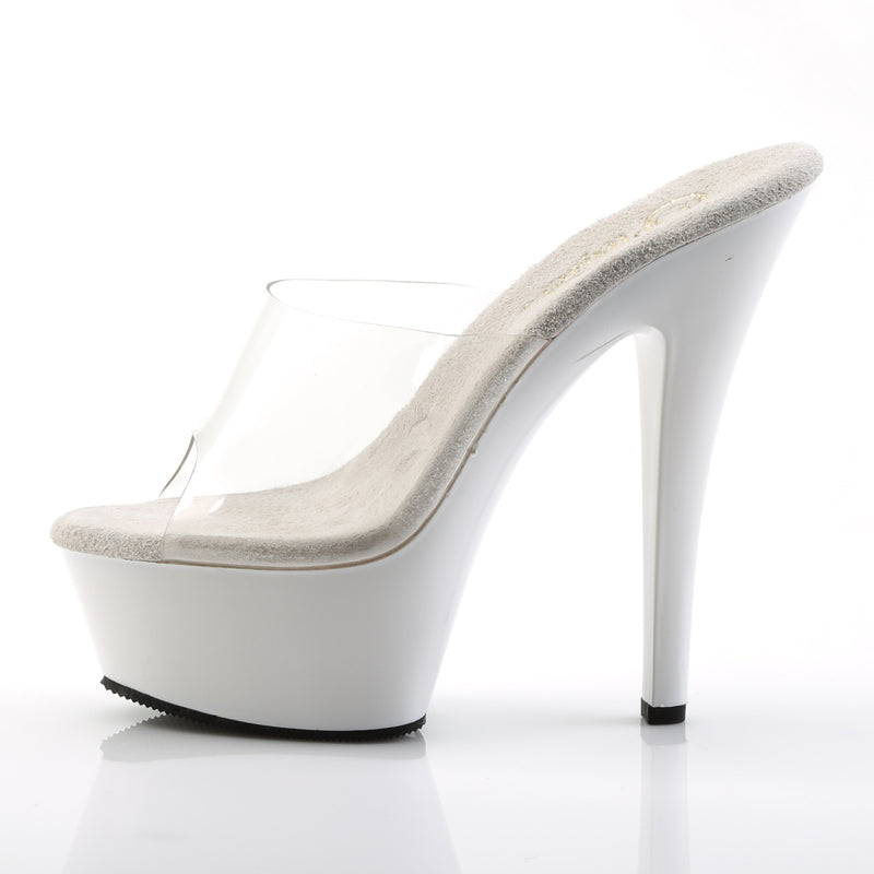 Kiss 201 White and Clear Platform Heels