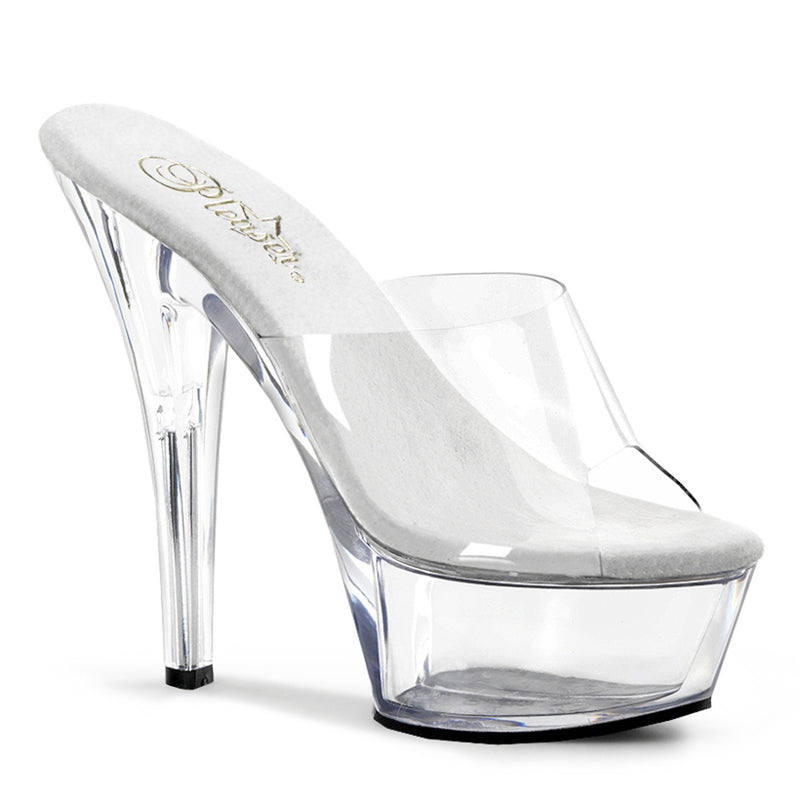 Pleaser Shoes Kiss-201 Clear
