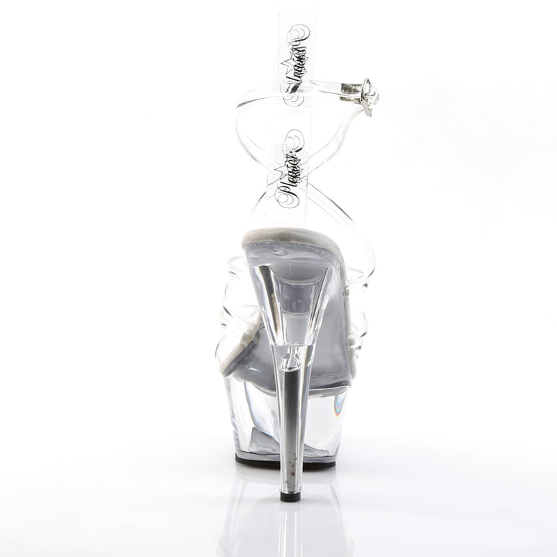 Kiss 206 Clear Strappy Platforms
