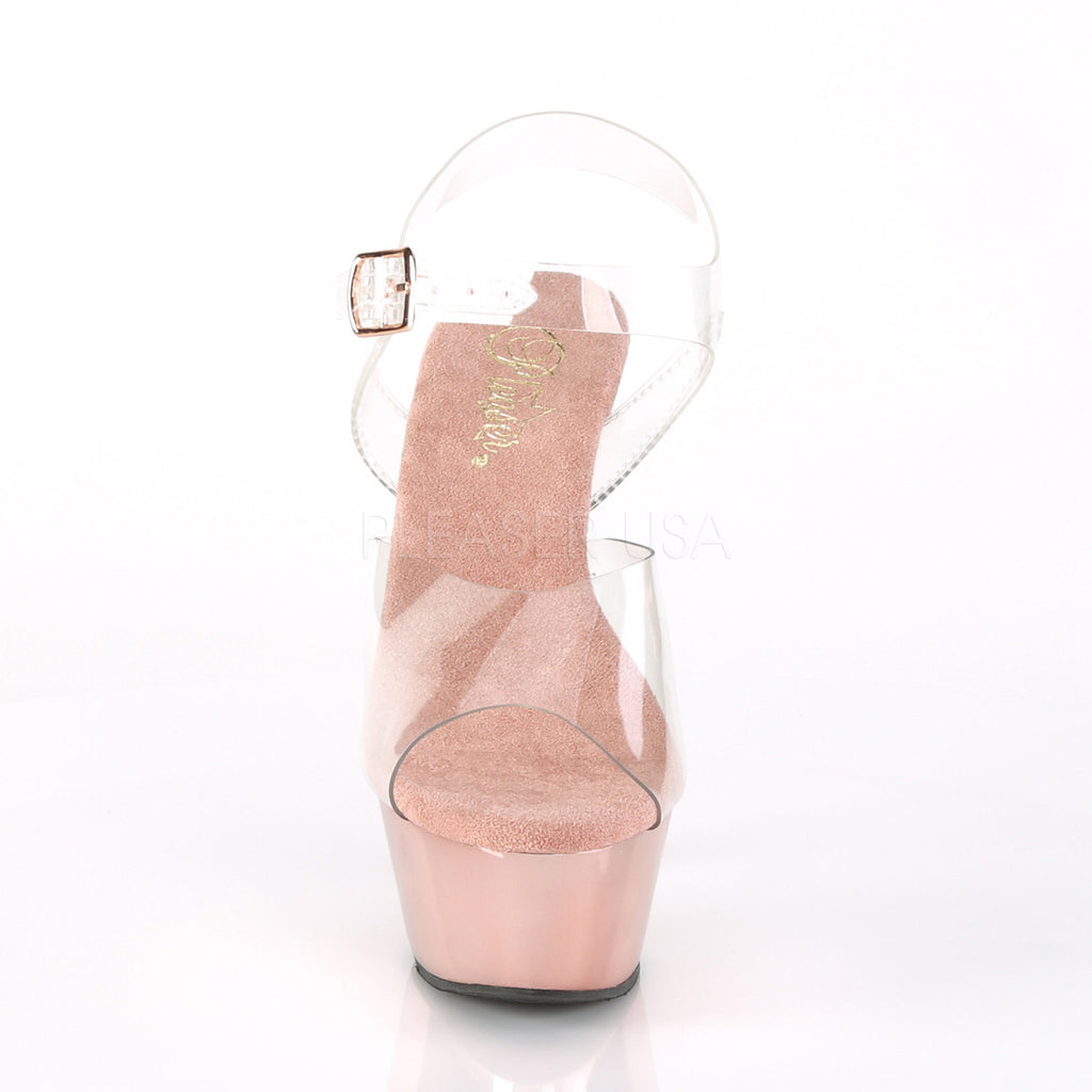 Kiss 208 Rose Gold Chrome Vegan Platform Heels