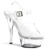 Kiss 208LS Clear and Rhinestone Platform Heels