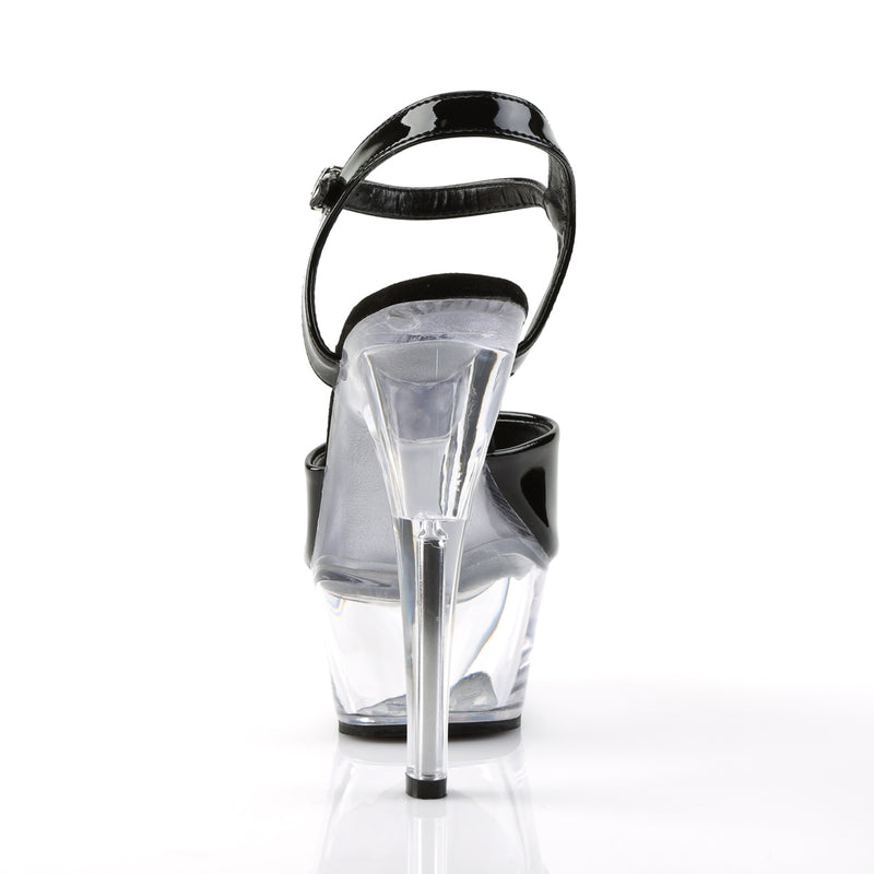 Kiss 209 Black and Clear Platform Heels