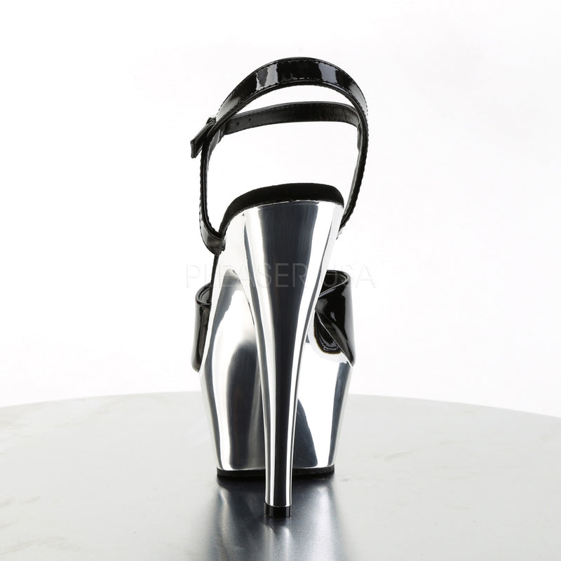 Kiss 209 Black Patent and Silver Chrome Platforms