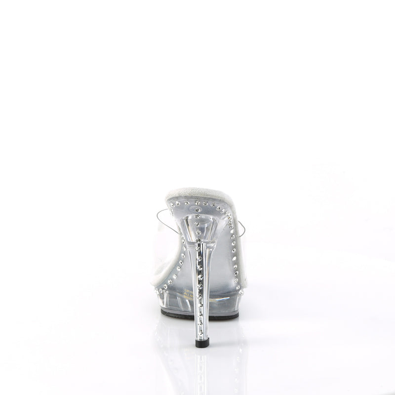 Lip 101LS Clear Sandals with Rhinestones