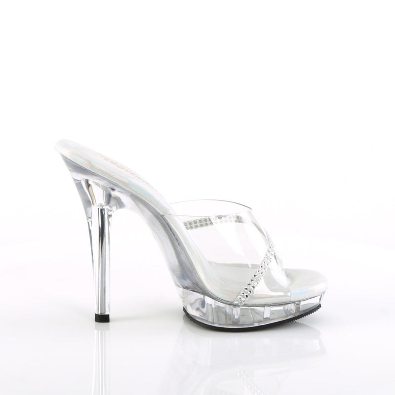 Lip 101R Clear Sandals with Rhinestones